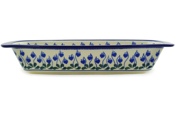 "14"" Oval Baker with Handles - Blue Bell 