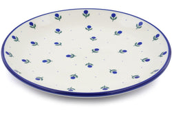 "11"" Dinner Plate - Blue Buds 