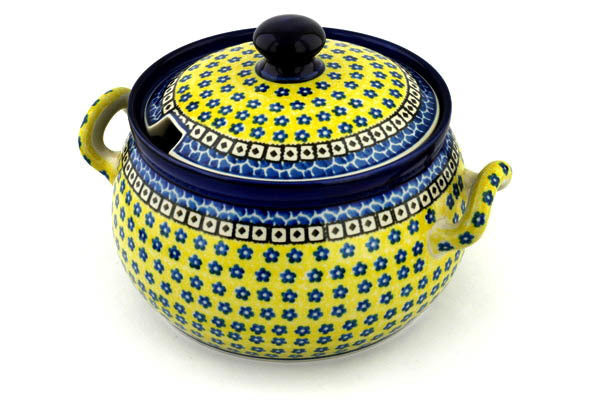 15 cup Soup Tureen - Blue Sunshine | Polish Pottery House
