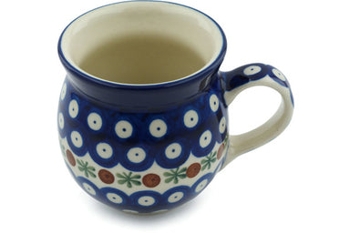 8 oz Bubble Mug - Blue Old Poland | Polish Pottery House