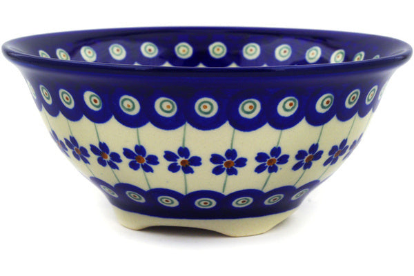 18 oz Cereal Bowl - Floral Peacock | Polish Pottery House
