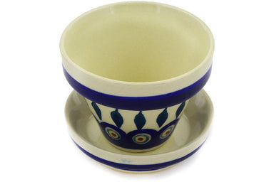"4"" Flower Pot - Peacock 