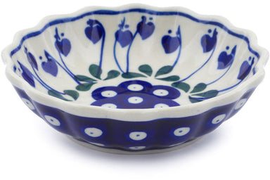 5 oz Scalloped Fluted Bowl - 377O | Polish Pottery House