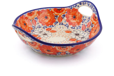 5 cup Serving Bowl with Handles - P9323A | Polish Pottery House