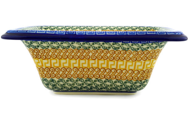 7 cup Serving Bowl - Blue Autumn | Polish Pottery House