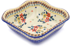 5 cup Square Bowl - P9336A | Polish Pottery House