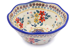 4 cup Fluted Bowl - P9336A | Polish Pottery House