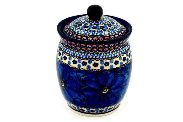 4 cup Canister - Fiolek | Polish Pottery House