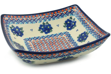 4 cup Square Bowl - P8985A | Polish Pottery House