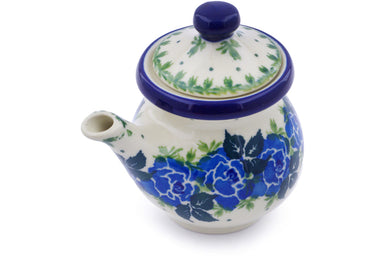5 oz Creamer with Lid - Bendikas Floral | Polish Pottery House