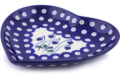 "7"" Heart Platter - Blue Bell 