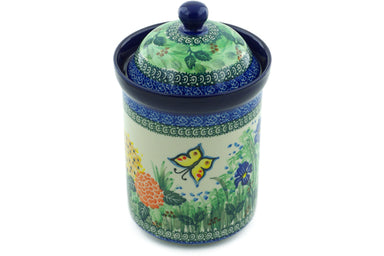6 cup Canister - Spring Garden | Polish Pottery House