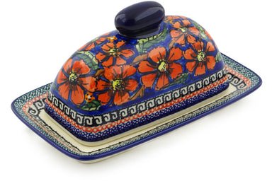 "8"" Butter Dish - Poppies 