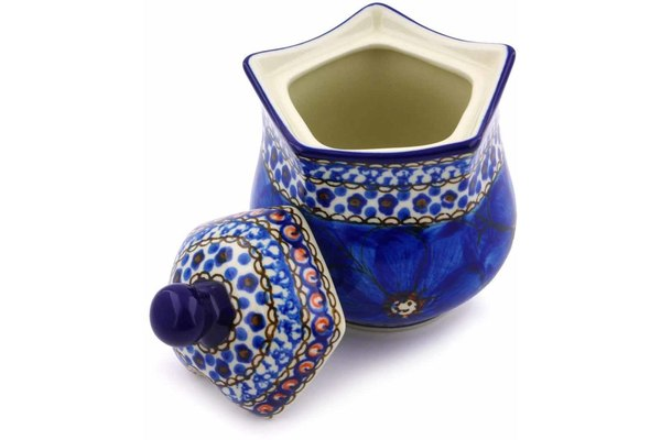 11 oz Sugar Bowl - Fiolek | Polish Pottery House