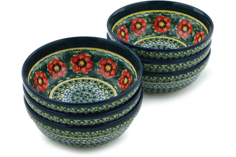 2 cup Set of 6 Bowls - 134ART | Polish Pottery House