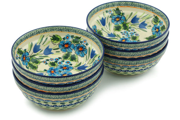 2 cup Set of 6 Bowls - 165ART | Polish Pottery House