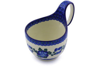16 oz Soup Cup with Handle - Heritage | Polish Pottery House
