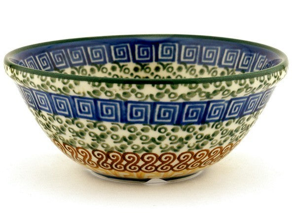 12 oz Dessert Bowl - Blue Autumn | Polish Pottery House