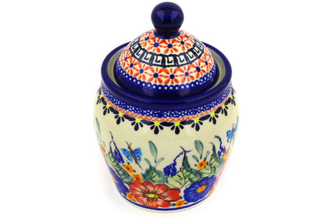 2 cup Canister - Butterfly Garden | Polish Pottery House