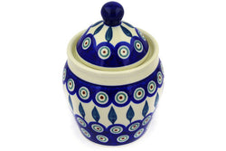 18 oz Canister - Peacock | Polish Pottery House