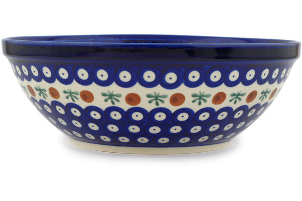 8 cup Serving Bowl - Blue Old Poland | Polish Pottery House