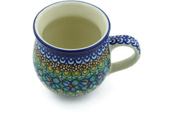 12 oz Bubble Mug - Moonlight Blossom | Polish Pottery House