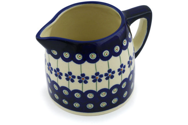 13 oz Creamer - Floral Peacock | Polish Pottery House
