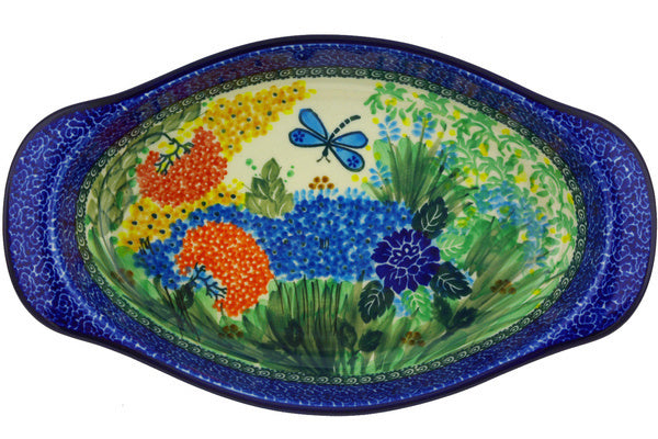 "13"" Oval Baker with Handles - Whimsical 