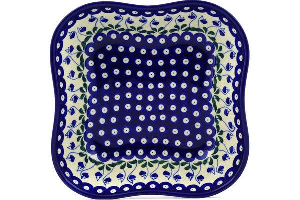 8 cup Serving Bowl - Blue Bell | Polish Pottery House