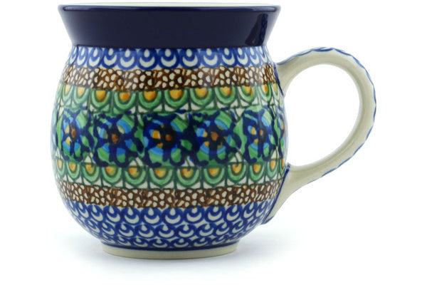 15 oz Bubble Mug - Moonlight Blossom | Polish Pottery House