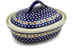 9 cup Covered Baker - Old Poland | Polish Pottery House
