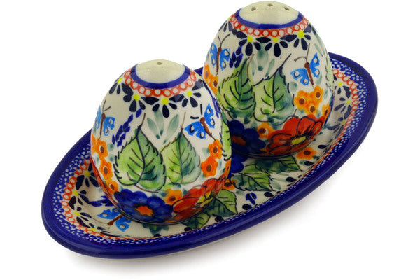 "3"" Salt and Pepper Shakers - Butterfly Garden 
