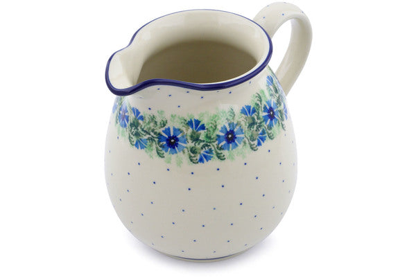 6 cup Pitcher - Cornflower | Polish Pottery House