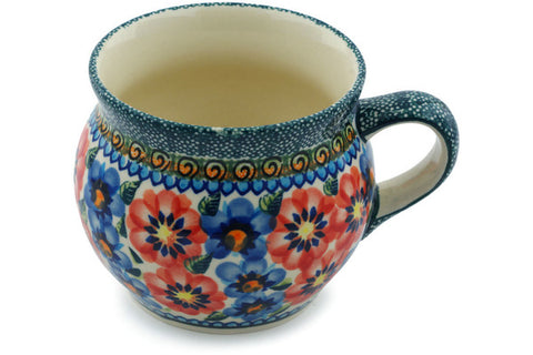 16 oz Bubble Mug - Cottage Garden | Polish Pottery House