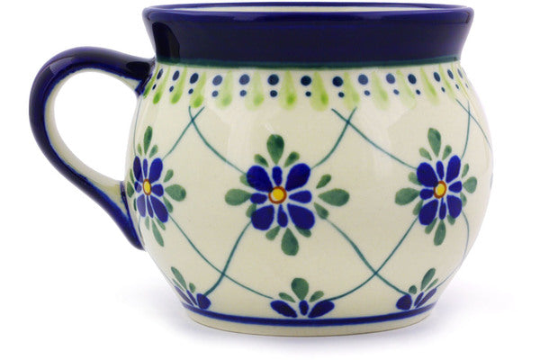 15 oz Bubble Mug - Emerald Lattice | Polish Pottery House