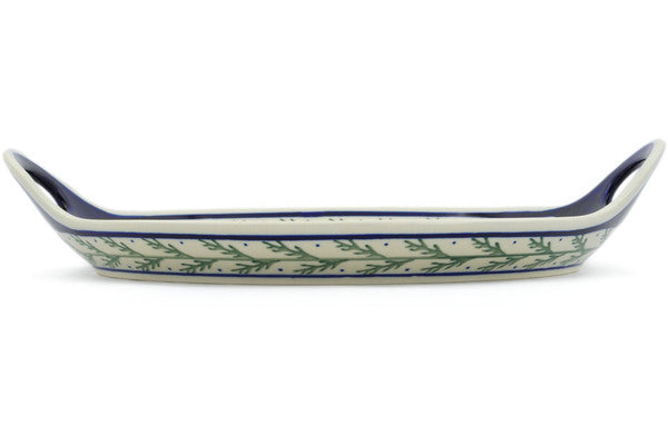 "13"" Tray with Handles - Evergreen 