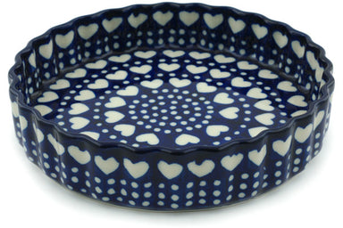 "8"" Fluted Pie Plate - Hearts 