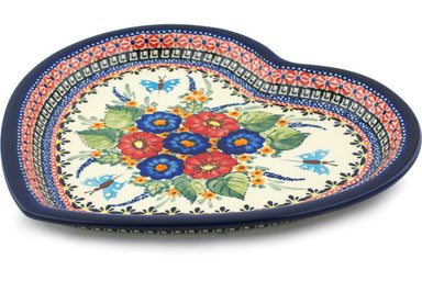 "11"" Heart Platter - Butterfly Garden 