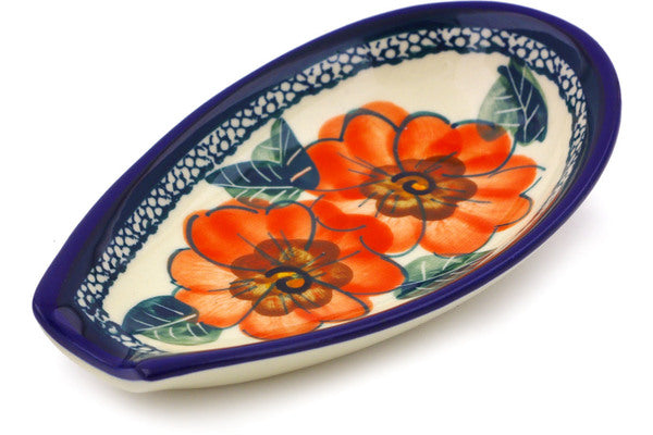 "5"" Spoon Rest - Coral Blossom 