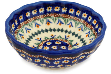 7 oz Scalloped Bowl - Lotus | Polish Pottery House