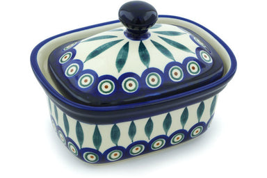 "6"" Butter Dish - Blue Peacock 