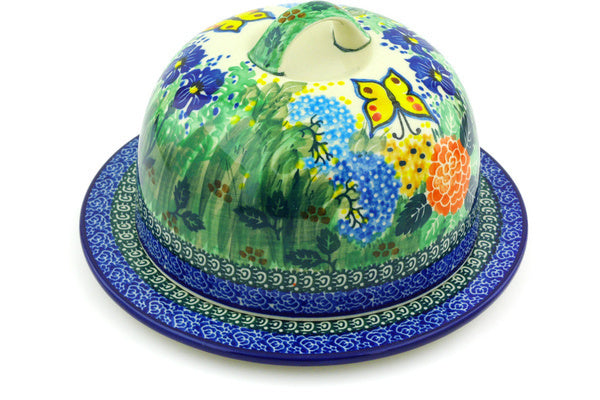 "9"" Covered Baker - Spring Garden 