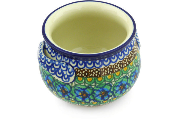 13 oz Soup Cup - Moonlight Blossom | Polish Pottery House