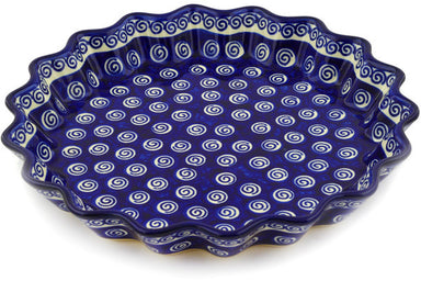 "11"" Fluted Pie Plate - Swirl 