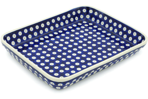 "9"" x 12"" Rectangular Baker - Polka Dot 