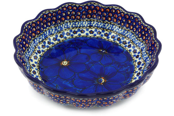4 cup Scalloped Fluted Bowl - Fiolek | Polish Pottery House