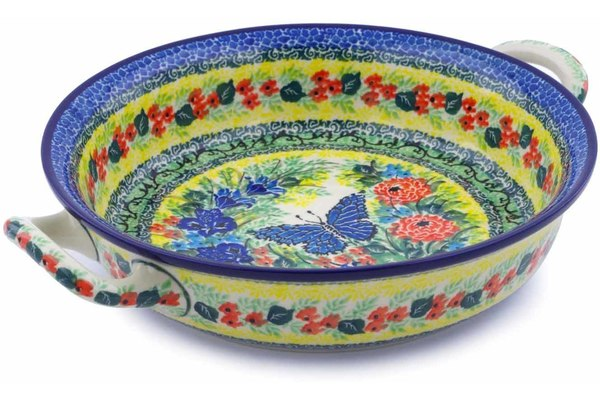 "8"" Round Baker with Handles - U4107 
