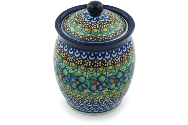 16 oz Canister - Moonlight Blossom | Polish Pottery House