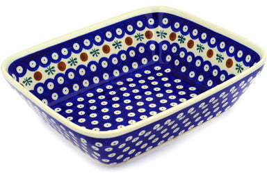 "9"" x 10"" Rectangular Baker - Old Poland 