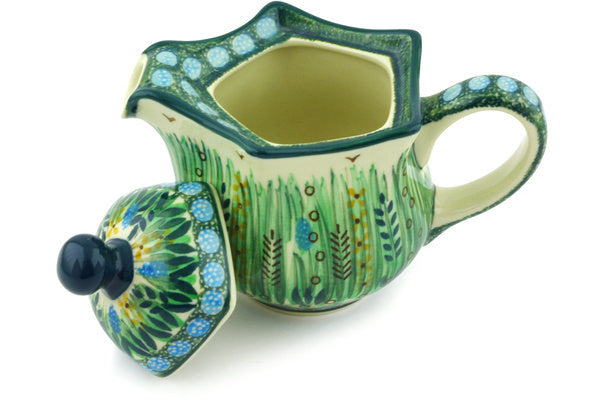 11 oz Creamer with Lid - U803 | Polish Pottery House